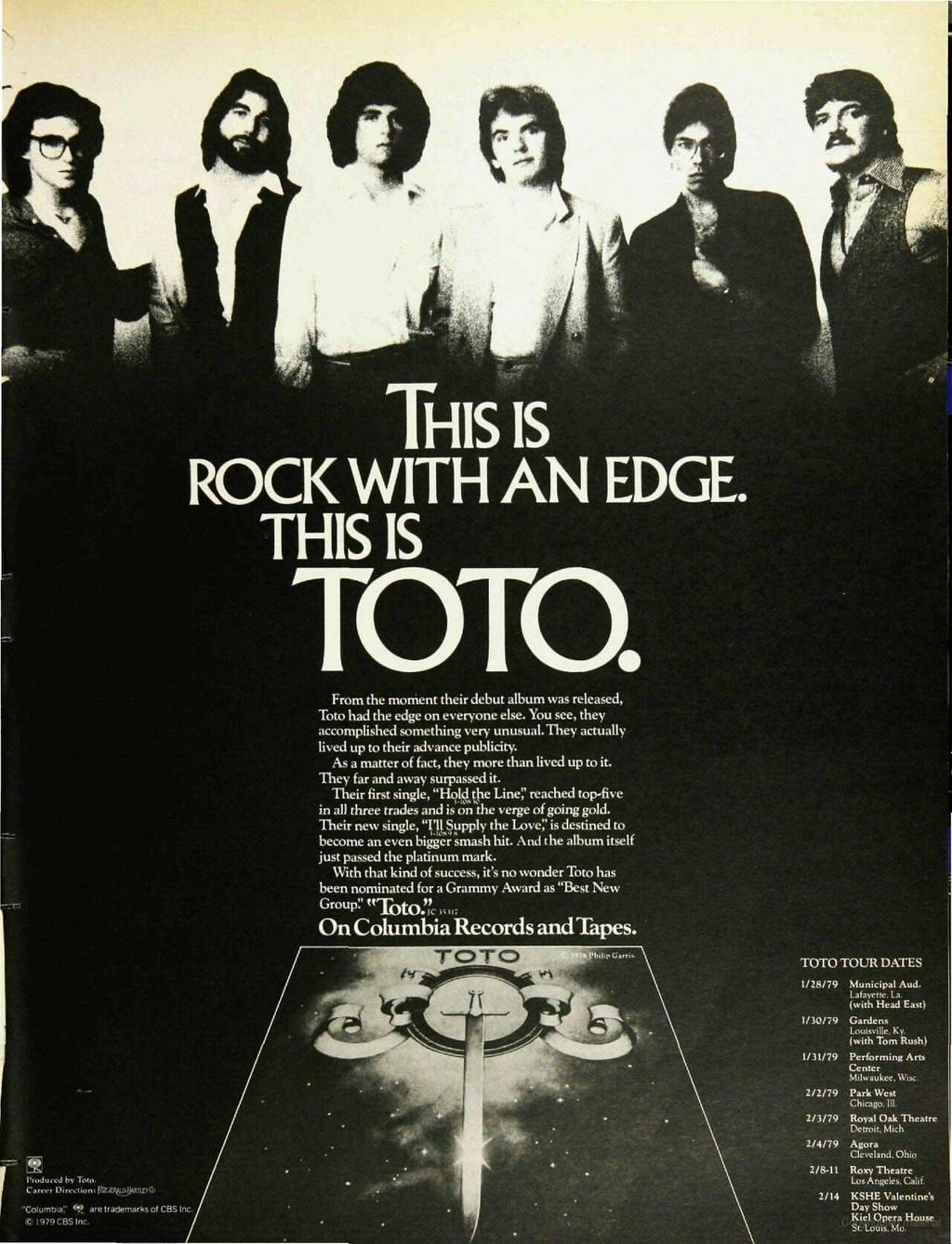 401: THS is ROCK WTH AN EDGE. THS S TOTO. From the moment their debut album was released, Toto had the edge on everyone else. You see, they accomplished something very unusual.