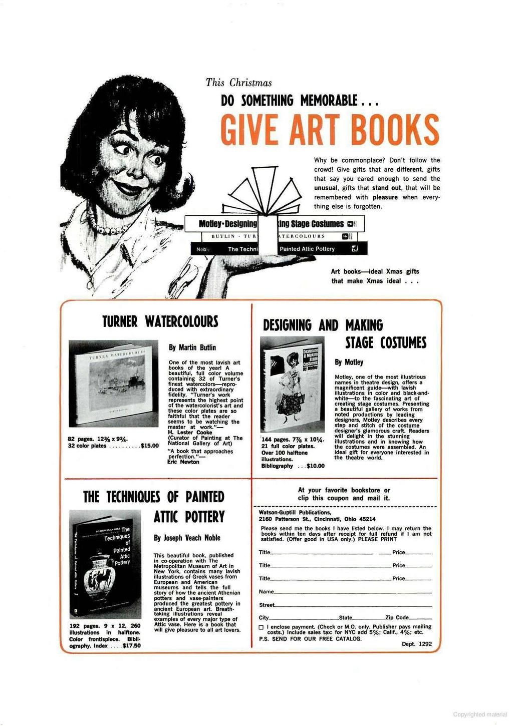 This Christmas DO SOMETHING MEMORABLE... GIVE ART BOOKS Why be commonplace? Don't follow the crowd!