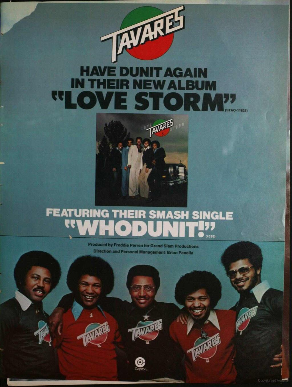 "HAVE DUNT AGAN N THER NEW ALBUM ""LOVE STORM""!B FEATURNG THER SMASH SNGLE 'WHODUNT!"