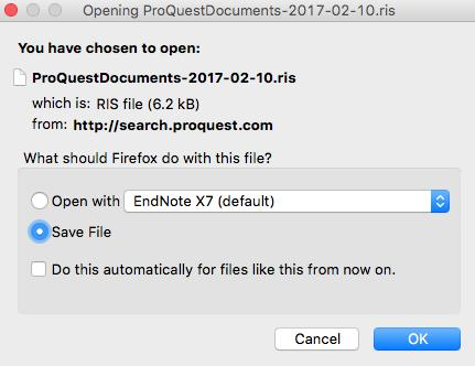Getting started with EndNote X7 (Mac) Run your search in the database and select a the references you wish to add to your EndNote library by