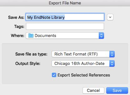 Highlight some, or all the references from your EndNote Library From the Tools menu select Subject Bibliography In the Subject Fields dialogue box scroll down to highlight those field(s) whose