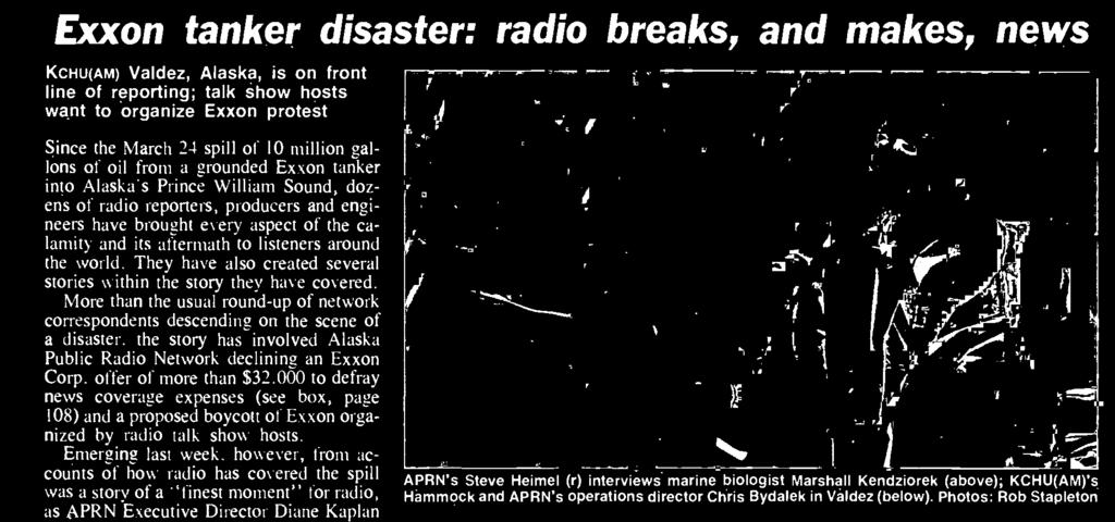Initially, local radio in particular, with severely limited resources, became the ears for the world.