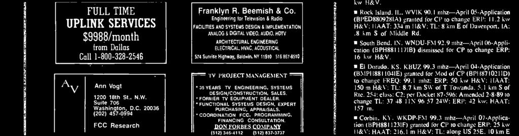 Baldwin. NY 11510 516867-8510 TV PROJECT MANAGEMENT 35 YEARS TV ENGINEERING, SYSTEMS DESIGN /CONSTRUCTION, SALES. FORMER TV EQUIPMENT DEALER. FUNCTIONAL SYSTEMS DESIGN, EXPERT PURCHASING, APPRAISALS.