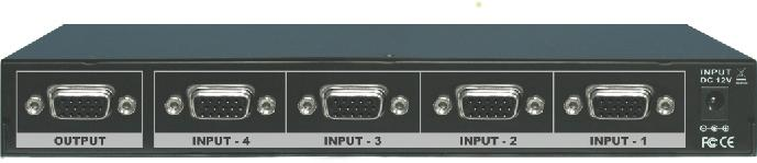 MULTIMEDIA AUDIO AND VISUAL Instruction Manual MODEL : SB-406 4x VGA ROUTING SWITCHER 4x