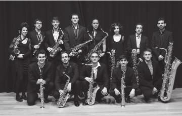 THURSDAY 12/07 /2018 12:15 ACADEMY OF MUSIC Vaclav Huml Hall Guernica Saxophone Ensemble commercial song in Japan composed by Koji Ueno, Tarako, Tarako, Tarako.