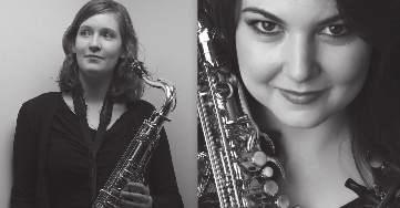 wednesday 11/07 /2018 STUDENT CENTRE Theatre &TD Big Hall Erin Royer and Jenni Watson STUDENT CENTRE Theatre &TD Semicircular Hall YMD Duo wednesday Erin Royer, saxophone Jenni Watson, saxophone