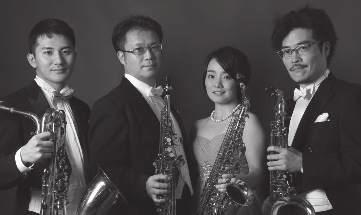 wednesday 11/07 /2018 17:00 ACADEMY OF MUSIC Fran Lhotka Hall Quartet Hayate Norihiko Takiue, soprano saxophone Sayaka Takeuchi, alto saxophone Hisashi Onuki, tenor saxophone Hirotoshi Sato, baritone