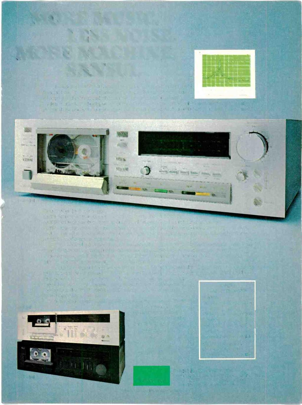 I MORE MUSIC. LESS NOISE. MORE MACHINE. SANSUI. Noise is a thief. It robs you of the quality of music you are e 111I.