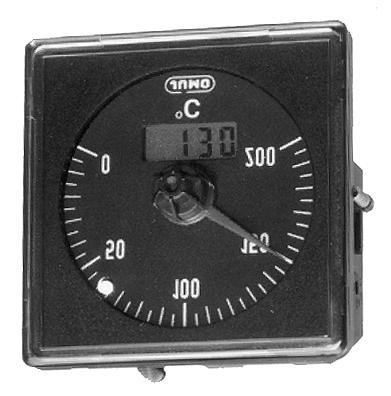 com Temperature controller with digital indication for use with resistance thermometers and thermocouples Series 8650 Bezel: 48 x 48mm, 74 x 32mm, 72 x 72mm Case size: 60mm dia.