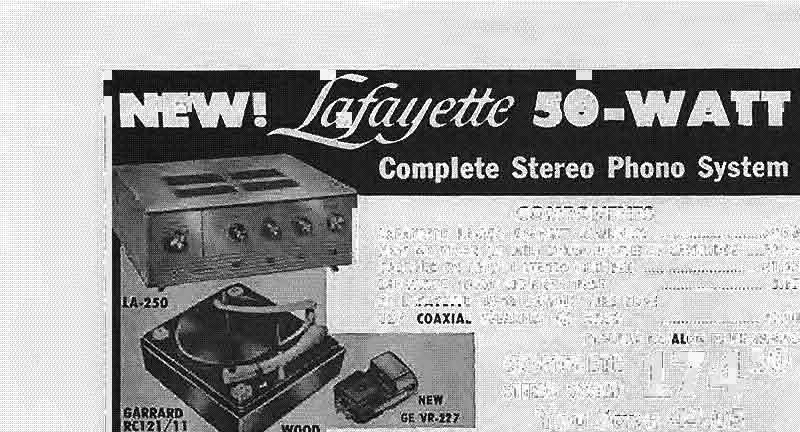 w Lafayett. LT-50.ter tuner. Shpg. wt., 85 lb..... 10.00 D.wn...... N.t 28'7:51) KT-500 FM-AM STEREO TUNER KIT 11 Tubes (4 dual-purpose.