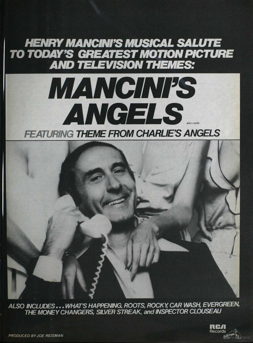 HENRY V. Log A'I ì MUSICAL SALUTE TO TODAY'S GREATEST MOTION PICTURE AND TELEVISION THEMES: MANCINI'S ANGELS.o.=.