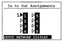 zones and any assigned input sources (such as Input 1 as shown in the following screen). A shaded arrowhead indicates that a signal is present.