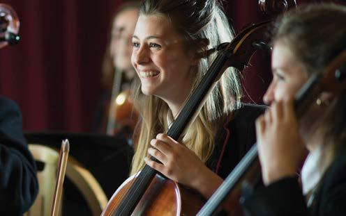 The school has over 40 ensembles and holds more than 60 concerts a year.