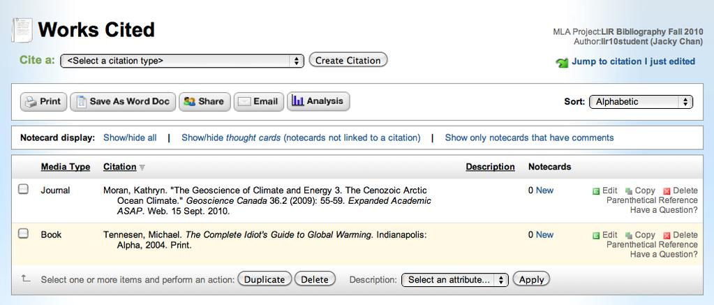 Step 15: Check your citation Your citation will now appear in your list.