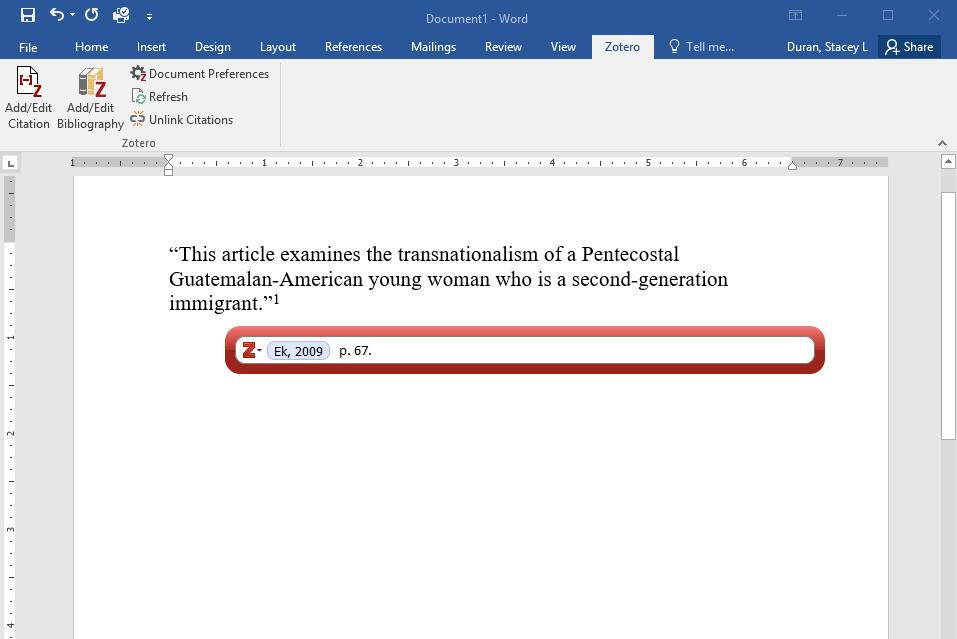 Inserting a Footnote/Endnote, part 3.