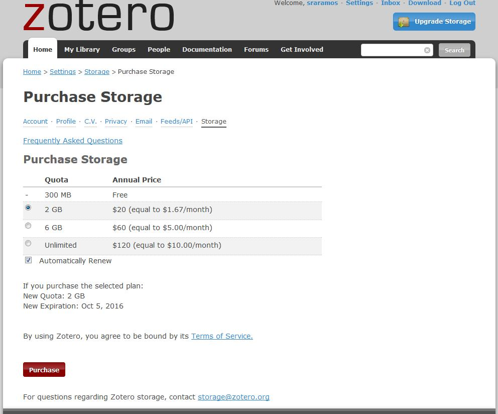 More Information on Zotero Storage https://www.zotero.