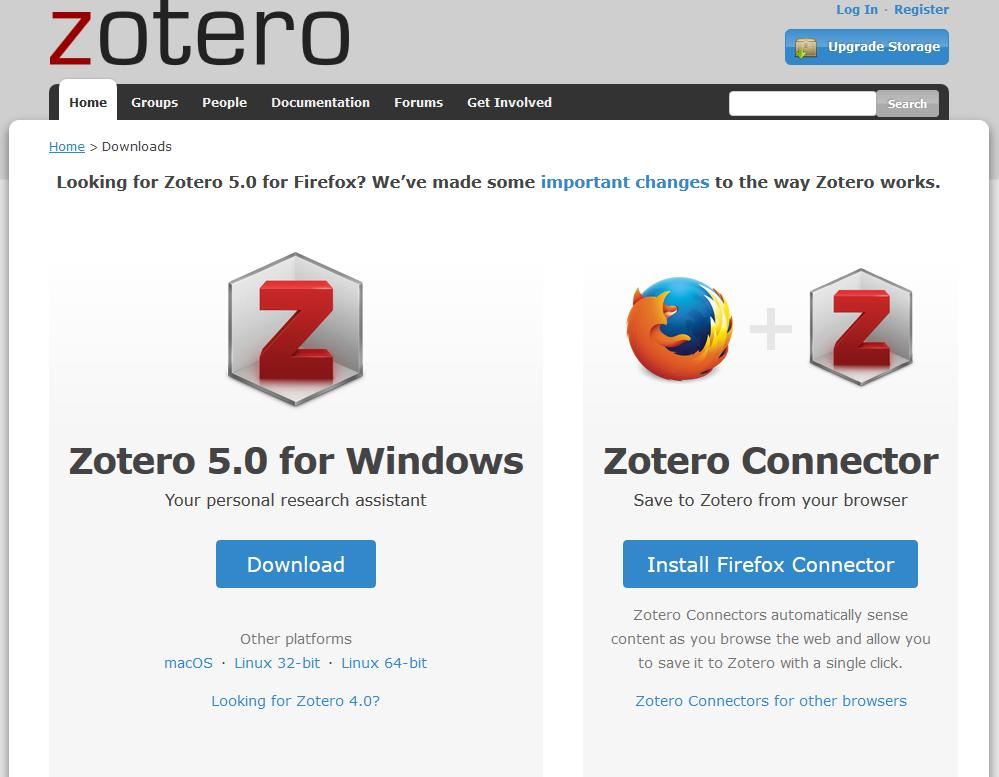 Installing Zotero: 1. Register a free Zotero account. 2. Download Zotero. 3.