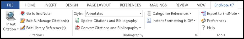 4 CITE WHILE YOU WRITE EndNote s Cite While You Write (CWYW) lets you look up references, insert them in your document, format your bibliography, and edit your citations to include page numbers or