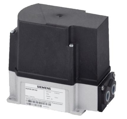 SQM4 actuators are available with up to six internal, easily adjustable switches. The actuators are used primarily for precise flow control of gas, oil or combustion air.