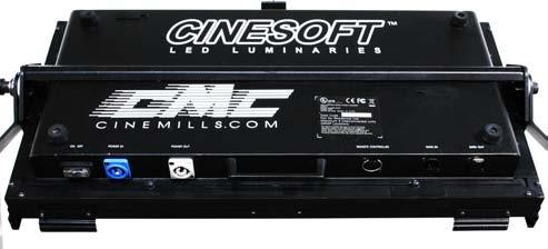 For example,if the CINESOFT is set to channel 6, the DMX channe l 6 will control color temperature and channel 7 will control intensity.