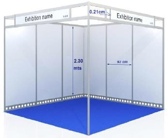The minimum exhibition space is 9 square meters. The rate includes 3 exhibitors badges per 9 square meters rented.