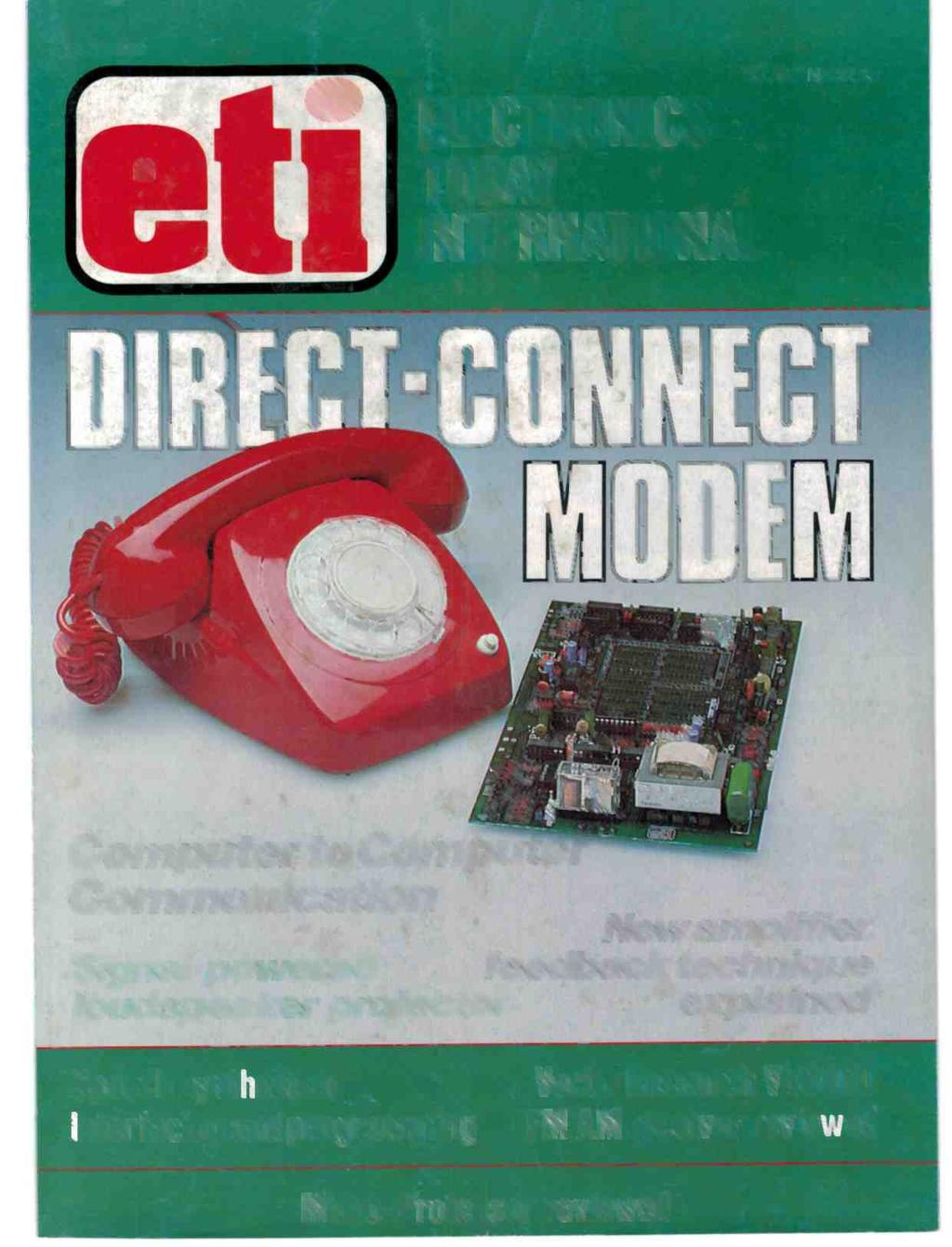 Computer To Comph1terw Communicatbohl Loudspeaker Protector Protection With Soft Start Transcription