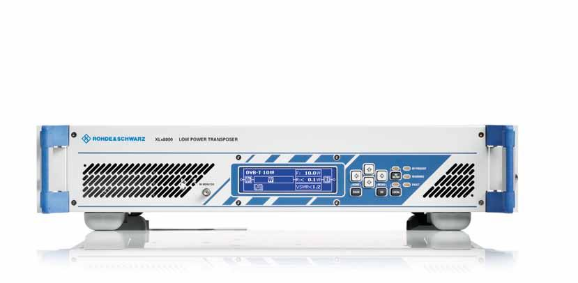 R&S XLx8000 UHF/VHF Transposers At a glance R&S XLx8000 UHF/VHF transposers offer compact, flexible solutions to reliably fill coverage gaps in transmitter networks.
