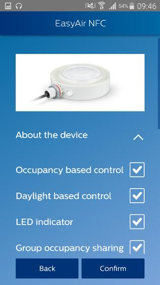 Scan device to configure parameters The sensor parameters that can be configured are listed below.