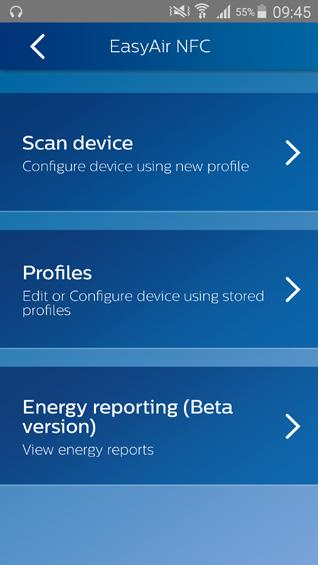 Energy reporting A beta version of energy reporting is available within Philips