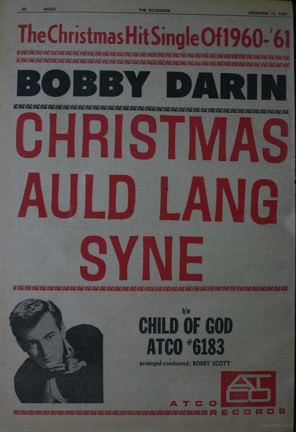 22 MUSIC THE BILLBOARD DECEMBER 12, 1960 TheChrìstmas HitSingIeOfl96O-'61 14-MAKOM-P4ACAKAMWAMAC-AttAlAkMONOM`-41-4Ma.