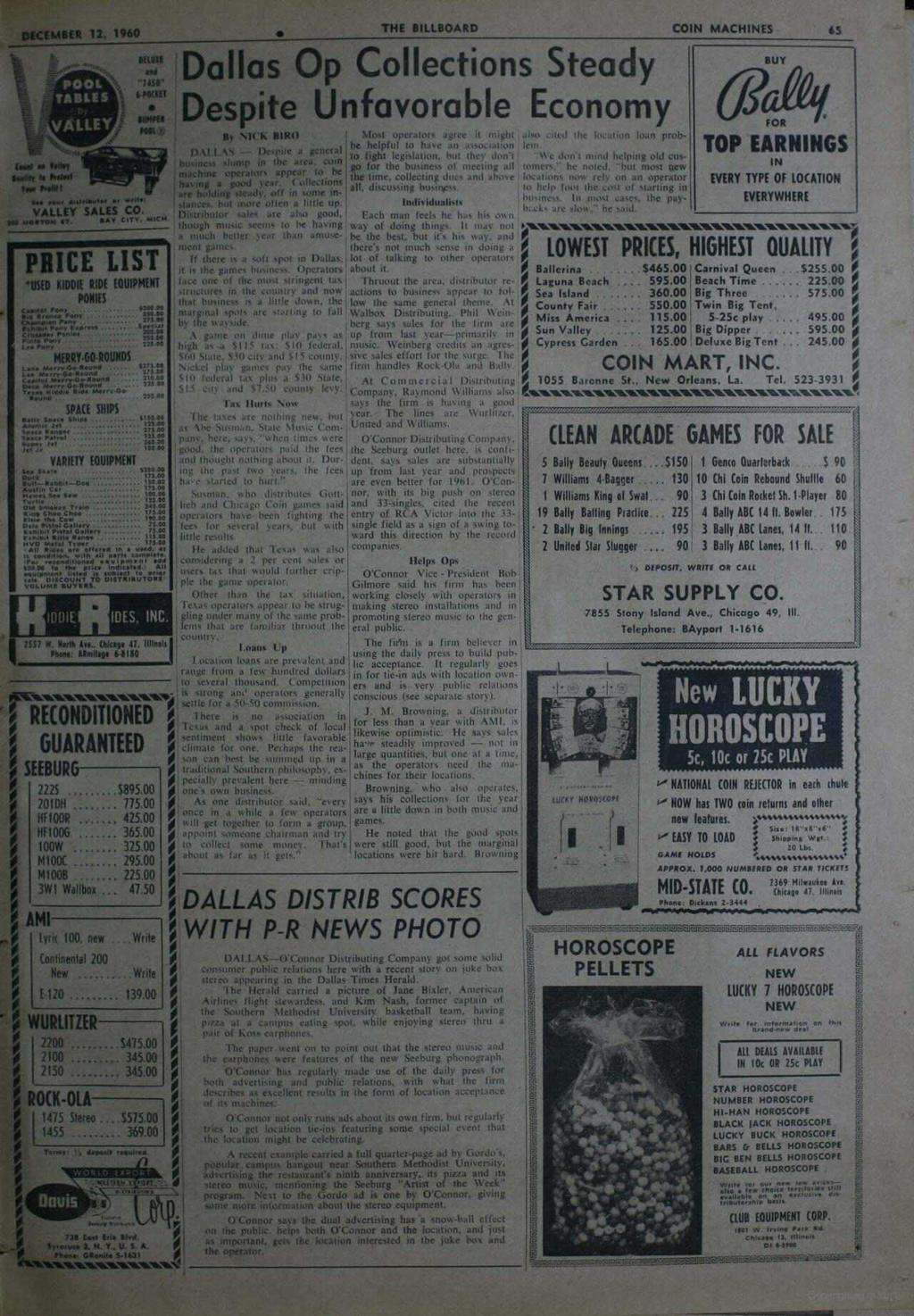 Perhaps www.americanradiohistory.com '. DECEMBER 12, 1960 THE BILLBOARD COIN MACHINES 65 faul ea Volley s_ M hdm Tue anion POOL TABLES VALLEY HUH.a/ MO'! POOH IOW! 100t VALLEY SALES CO. N.