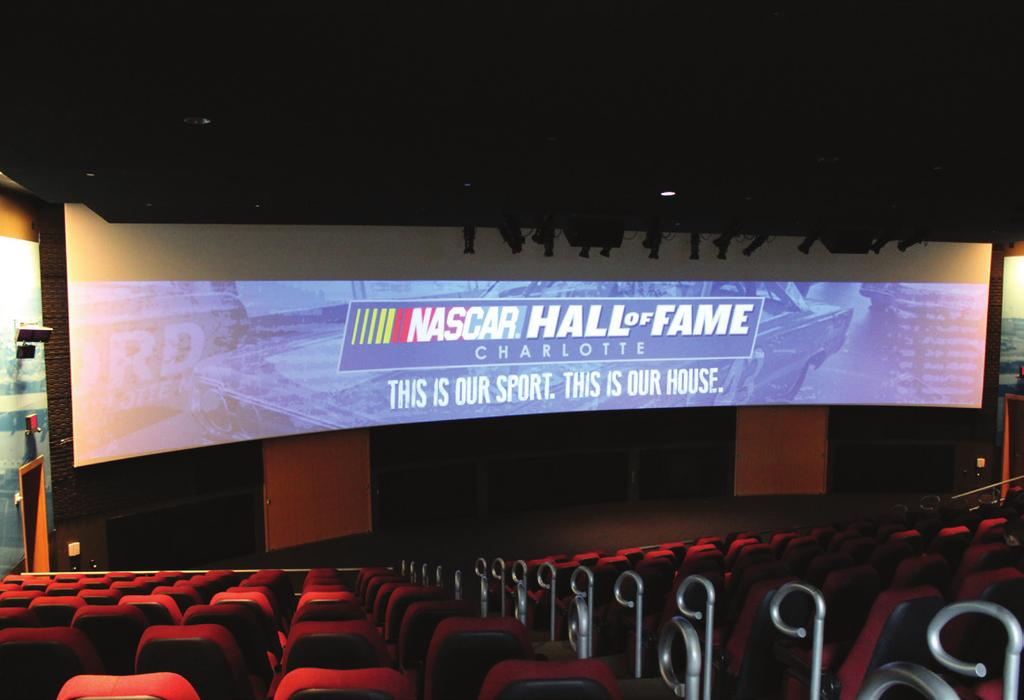 OPTION A OPTION B High Octane Theater Projection Screen 10k Projectors on a Curved 64 Screen Encapsulate your audience in the Hall s High Octane Theater, which offers unbeatable acoustics and