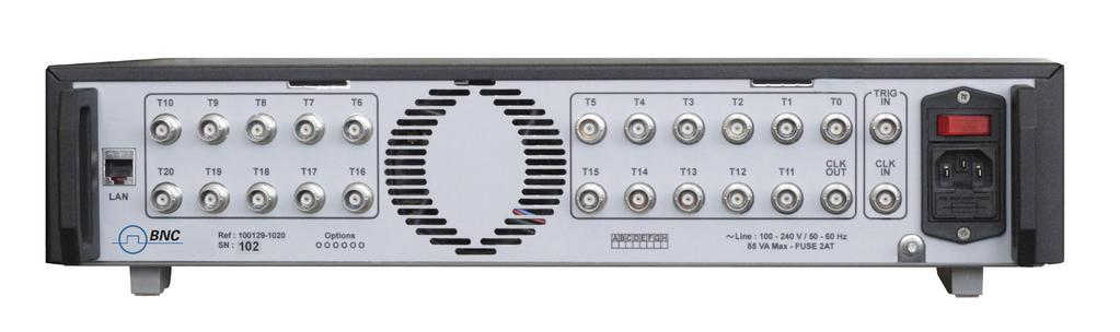 20 Channel Digital Delay Generator Description The 745T-20C Digital Delay Generator provides twenty independently delayed pulse outputs on the rear panel.
