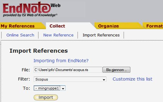 scopus.ris). Import the file (scopus.
