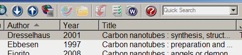 Searching an EndNote Library Open the EndNote Library Quick search Type your search term.