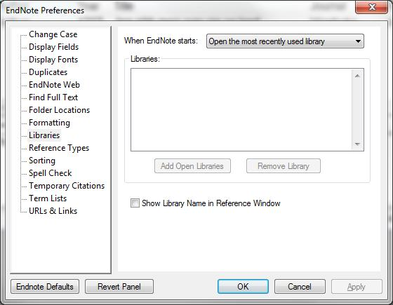 Edit > Preferences Libraries It is recommended not to have more than one Library.