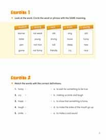 The 240 words presented in each level, combined with the additional target words featured in the appendices included in each book, provide learners with over 1,000 practical, high-frequency English