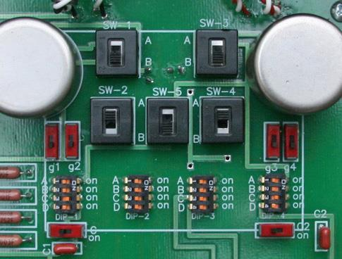 Setup for medium output (0.5mV to 1.0mV) MC cartridges Figure 6 shows the basic switch positions for medium output cartridges.