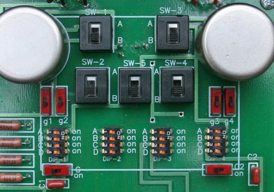 Setup for low output (less than 0.5mV) MC cartridges Figure 7 shows the basic switch positions for low output cartridges.