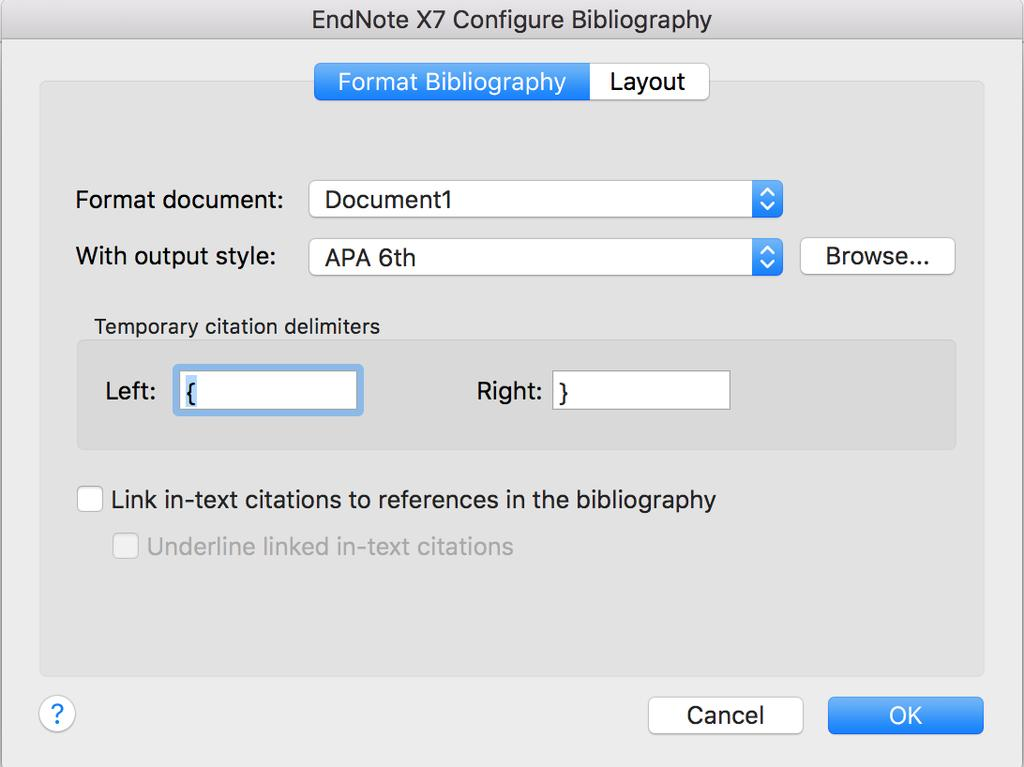 Theses often require the references to be double spaced. There is no need to change the output style. You can make this change while formatting your bibliography. 1.