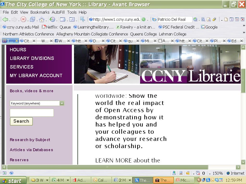 Accessing Databases From the City College