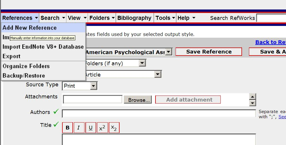 Additional Tools Add a Citation Click