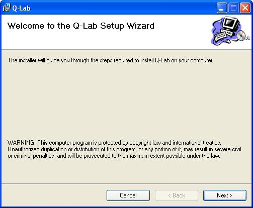 Installation Instructions To install the Q-Lab software, perform the following steps: 1.