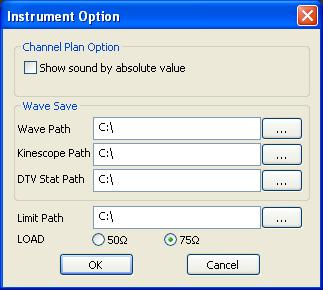 Q-Lab Software Option Settings Before using the Q-Lab software for the first time you must select how to display the sound frequency within a channel test plan and set the default file locations for