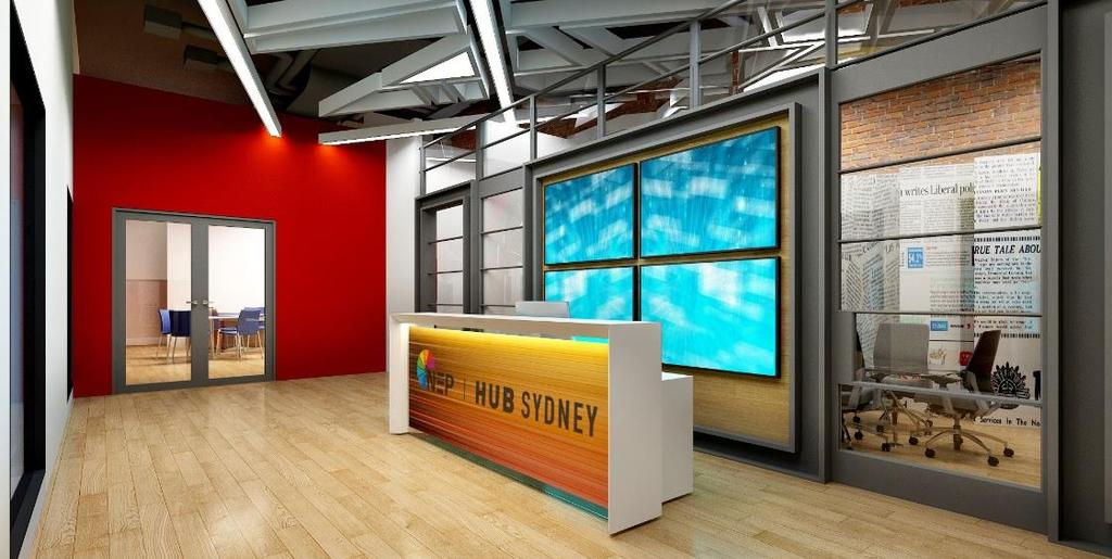 SYDNEY PRODUCTION HUB Existing facility Two 750Sq/m television studios significant support areas One central control room Proposed facility Discreet