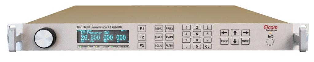 SIDC-6003 MICROWAVE WIDEBAND DOWNCONVERTER / TUNER UP TO 26.5 GHz WIDE FREQUENCY RANGE: 0.5-26.