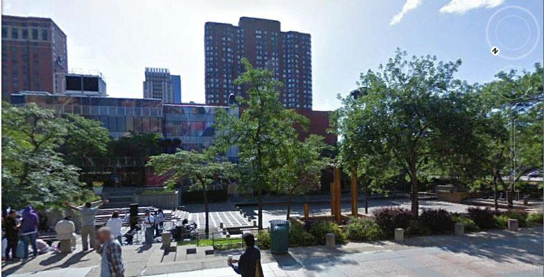 points Advice 4. The Orchestra is planning on holding summer outdoor events in the adjacent Peavey Plaza (below).