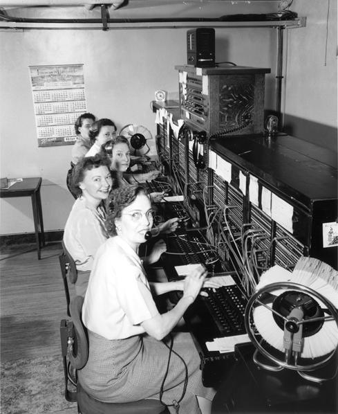 FIGURE 2. Telephone operators, Seattle, Washington, 1952. (Courtesy Creative Commons.