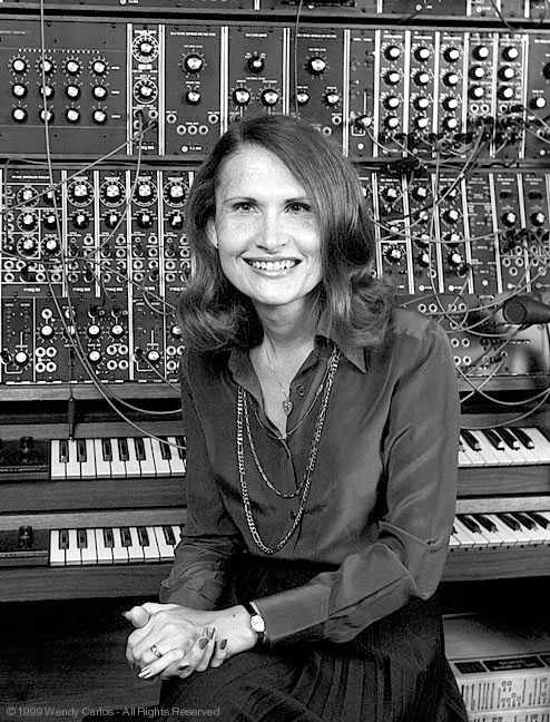 WENDY CARLOS Masters in Music Composition at Columbia, with Ussachevsky Met Robert Moog in New York and became one of his first customers, providing feedback for the development of the Moog