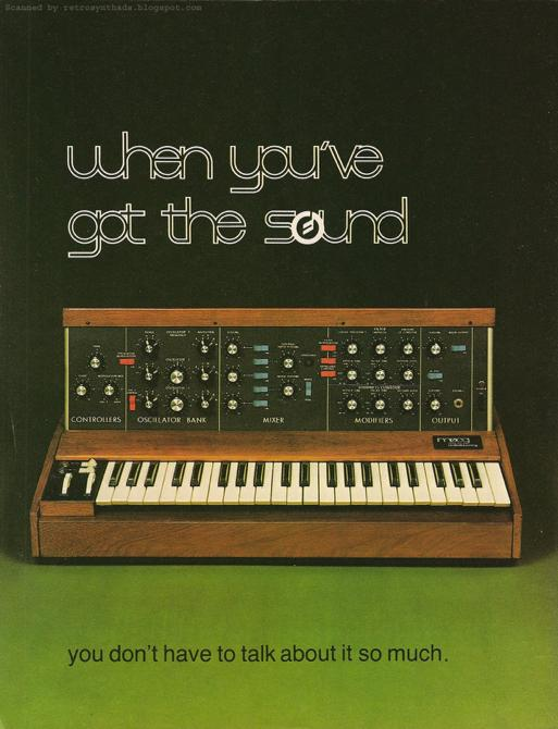 Minimoog (1970) The first pre-patched, portable performance synthesizer. Featured pitch bend and vibrato wheels (modulation wheels), which are now standard on all digital synthesizers.